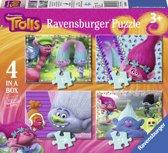 Ravensburger Trolls. Vier puzzels -12+16+20+24 stukjes - kinderpuzzel