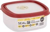 Wham Seal It Vershouddoos - Vierkant - 1,66 Liter - Set van 2 Stuks - Rood