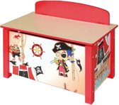 Playwood - Houten gekleurde speelgoedkist Piraat met poten - Opbergkist