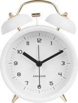 Karlsson Alarm Clock Classic Bell - Wekker - 10 cm - Wit met Goud