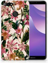 Huawei Y6 (2018) Uniek TPU Hoesje Flowers