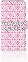 Nokia 6 Uniek Boekhoesje Flowers Pink DTMP