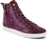 Pantofola d'Oro - Dames Sneakers Violetta Mid - Rood - Maat 41