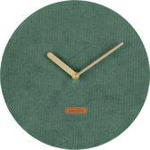 Wall clock Corduroy dark green