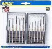 Kinzo Precisie Schroevendraaier Set - 11 delig - Schroevendraaiers