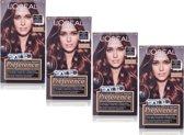 L'Oréal Paris Préférence Permanente Haarkleuring Recital 06 Glam Highlights Mahonie - Haarverf - 4 Stuks Voordeelverpakking