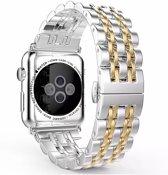 Horlogeband voor Apple Watch Series 5/4/3/2/1 Apple Butterfly Buckle Roestvrij staal Polsband 42/44mm