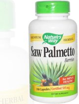 Saw Palmetto bessen 585 mg (180 Capsules) - Nature's Way