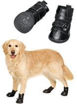 Flamingo  Hondenschoenen Xtreme boots 4 stuks - Zwart - M