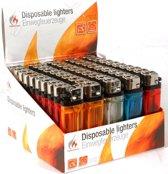 Voordeelpakket Wegwerp Aanstekers - Wegwerpaanstekers 50 Stuks - Aansteker Pakket - Diverse Kleuren