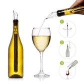 2x Wijnkoeler Icestick - Koelstaaf Stick -  Wijnfles Koeler Staaf - Wijn Fles Koeler Staaf - RVS
