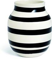 Kahler Design Omaggio Vaas - Hoogte 20 cm - Zwart/Wit