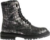 HIP Shoe Style Meisjes Bikerboots Print - Zilver - Maat 27