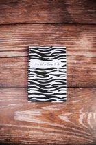 Notitieboekje A5 zebraprint