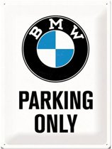 Wandbord - BMW Parking only - 30x40- cm