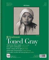Strathmore 400 series schetsboek - grijs getint papier
