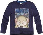 LamaLoLi-T-shirt-met-lange-mouw-marineblauw - Maat 104