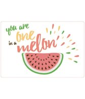 PLACEMAT - ANTI-SLIP - 30x45CM - 4ST. - ONE IN A MELON