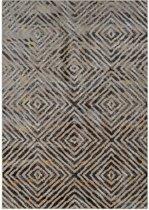 Modern tapijt veelkleurig ruitdessin - 160 x 230 cm