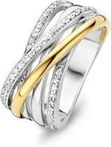 Moments Ring  15088AY/58 Zilver geelgoudverguld 18.50 mm (58) Ring met stenen Zirkonia