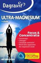 Dagravit Ultra-Magnesium Focus & Concentratie met Zink - 60 tabletten