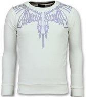 Local Fanatic Eagle Glitter - Merk Sweater Heren - 6340W - Wit - Maten: XL