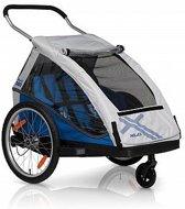 XLC Duo² Fietskar - 2 Kinderen -  Zilver/Blauw