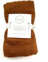 MaeMae Bamboe Swaddle - Rust 120x120