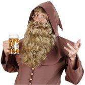 Blonde lange baard met golvend haar