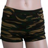 Camouflage print hotpants voor dames L/XL