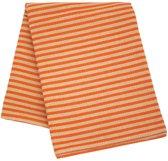 Sauna zitdoek lang - zomerstrepen, oranje, 50x150 cm
