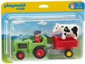 Playmobil 123 Traktor Met Aanhangwagen - 6715