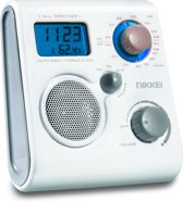 Nikkei NWP10WE - waterbestendige FM/AM doucheradio - wit