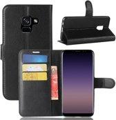 Samsung Galaxy A8 (2018) Book Case Hoesje - Zwart