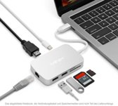MINIX Neo CX, USB-C multipoort-adapter [10 / 100Mbps Ethernet] - Silver