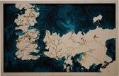 Wereld kaart gebaseerd op Game of Thrones