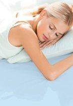 Schlafgut Hoeslaken Frottee Stretch (badstof) 052-aqua 180/200x200/200