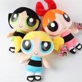 The Powerpuff Girls Pluche Knuffels - Blossom, Bubbles en Buttercup 20cm.