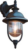 Konstsmide Parma - Wandlamp neerwaarts 43cm - 230V - E27 - matzwart/RVS