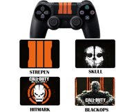 Duopack PS4 dualshock Controller PlayStation sticker skin | Call of Duty Blackops 3 III (2 stuks) - SKULL