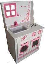 Playwood - Speel Keuken Wit met Roze