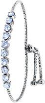 Lucardi - Zilveren armband Swarovski Crystal light sapphire