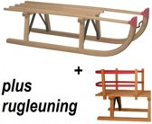 Slede Davos hout 100cm + rugleuning - Houten slee