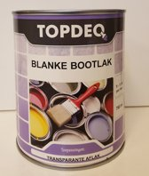 Topdeq Blanke Bootlak - Jachtlak - Hoogglans - Transparant - Blank - 750ml