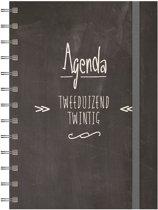 Hobbit agenda spiraal D3 jaaragenda 2020 (formaat A5) zwart
