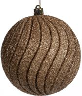 goodwill - Kerstbal - Kerstdecoratie - Goud - Glitter - 10 cm - Per 2 stuks -