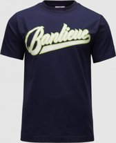Banlieue Script T-shirt Navy/Lime