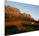 Zonsondergang op het gebergte van het Nationaal park Andringitra Canvas 120x80 cm - Foto print op Canvas schilderij (Wanddecoratie woonkamer / slaapkamer)