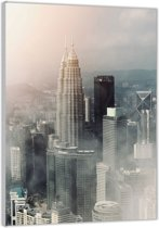 Plexiglas –Stad– 40x60cm (Wanddecoratie op Plexiglas)