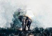 afbeelding op acrylglas - aquarel olifant